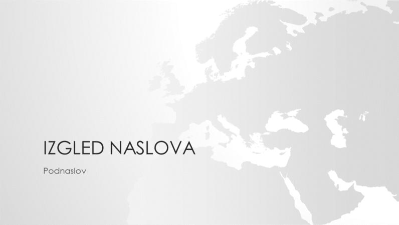 Serija karata svijeta, prezentacija s kartom europskog kontinenta (široki zaslon)