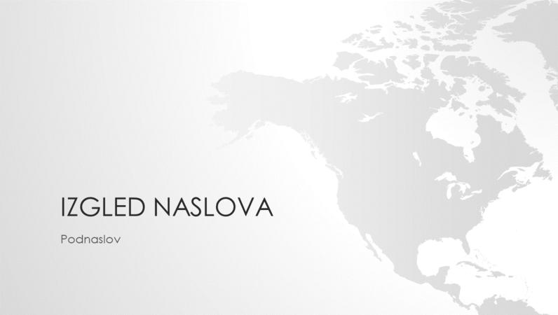 Serija s kartama svijeta, prezentacija sa sjevernoameričkim kontinentom (široki zaslon)