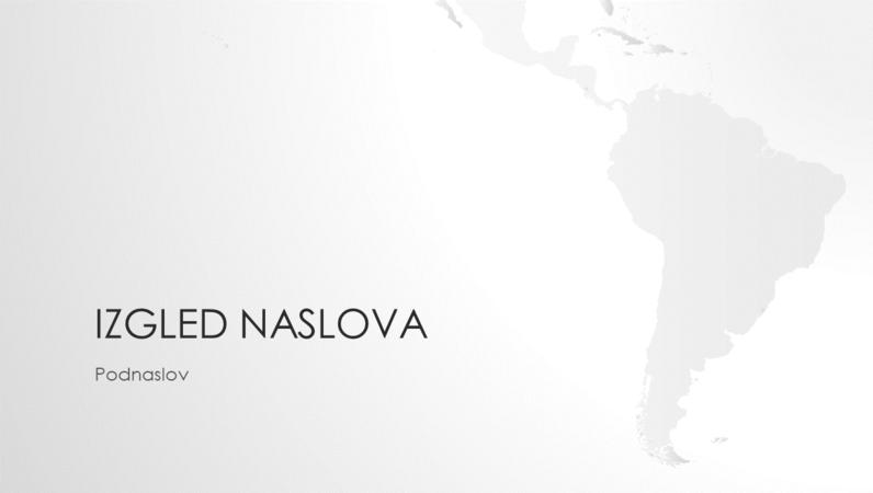 Serija karata svijeta, prezentacija s kartom južnoameričkog kontinenta (široki zaslon)