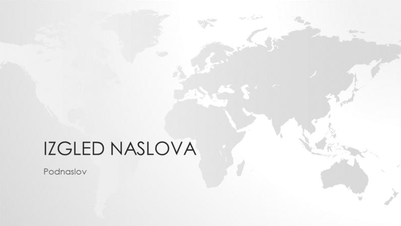 Serija karata svijeta, prezentacija s kartom svijeta (široki zaslon)