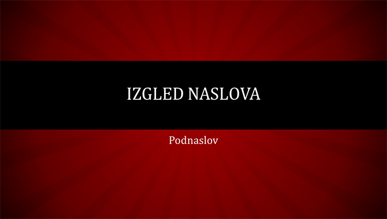 Prezentacija s crvenim radijalnim crtama (široki zaslon)