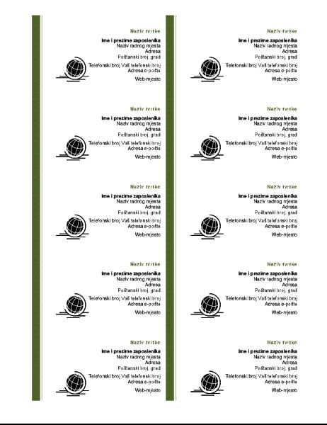 Vizitkarte (10 po stranici)