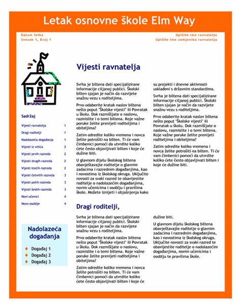 Školski bilten  (3 stupca, 4 stranice)