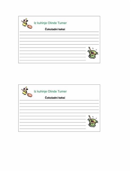 Kartice s receptima (personalizirano, 2/str.)