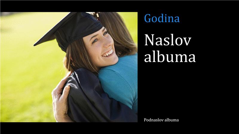 Fotoalbum promocije, crni (široki zaslon)