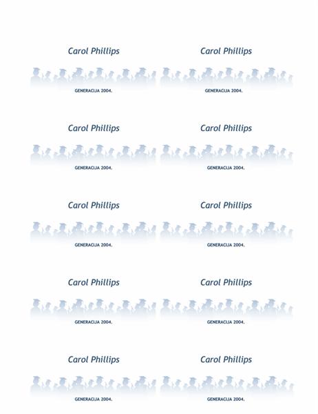 Kartice s imenima za nove diplomante