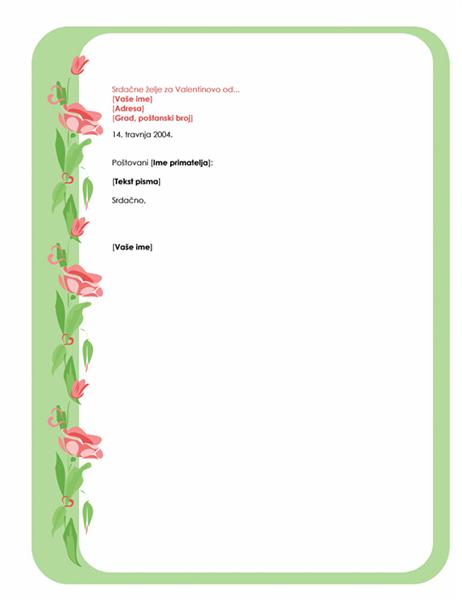 Papiri za pisma za Valentinovo