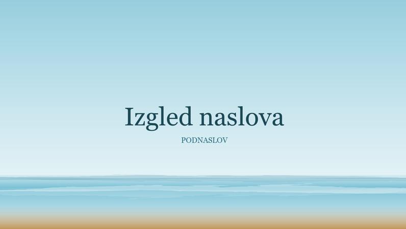Prezentacija sa slikom oceana (široki zaslon)