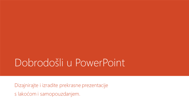 Dobro došli u PowerPoint