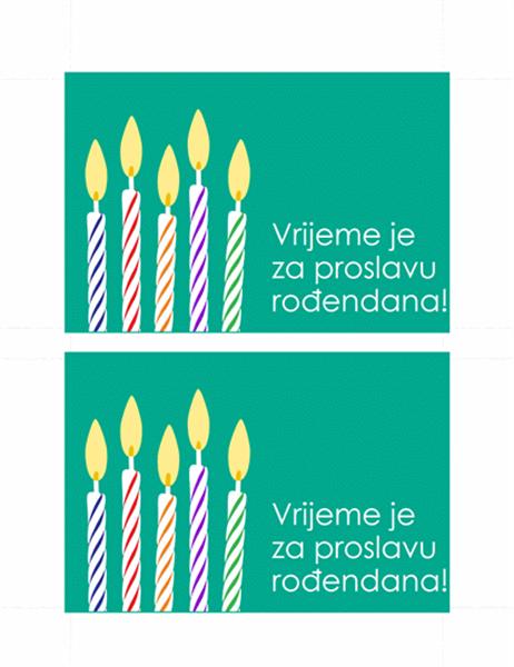 Pozivnica na rođendan u obliku dopisnice