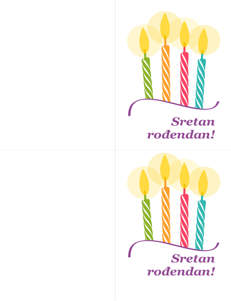 Rođendanska čestitka (2 po stranici)
