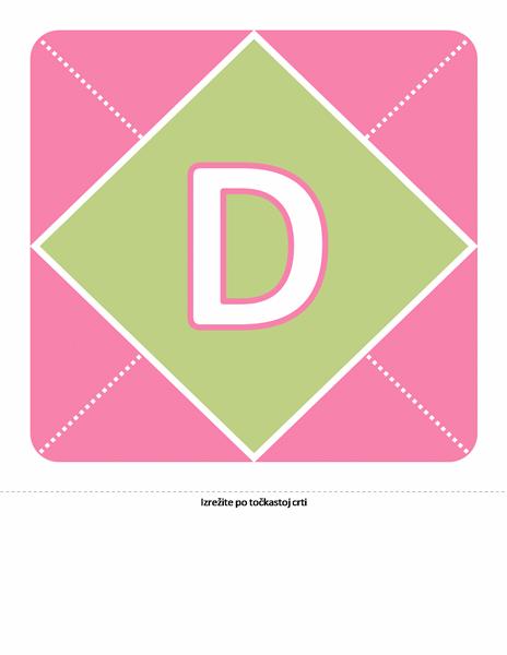 """Natpis """"Dobro došla, djevojčice"""" (ružičasti, ljubičasti, zeleni)"""