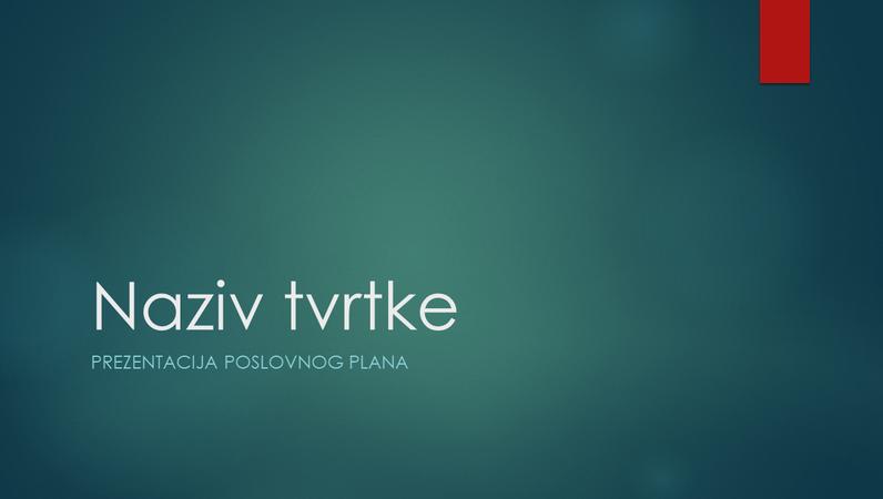 Prezentacija poslovnog plana (ionsko zeleni dizajn, široki zaslon)