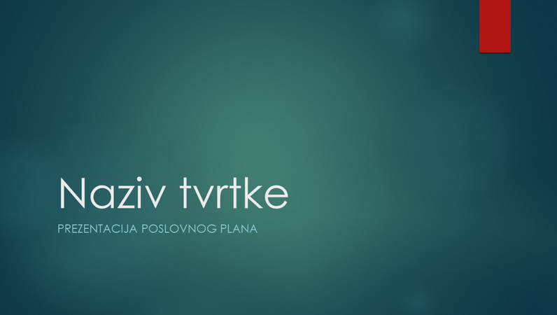Prezentacija poslovnog plana (zeleni ionski dizajn za široke zaslone)