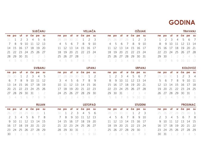 Cjelogodišnji globalni kalendar