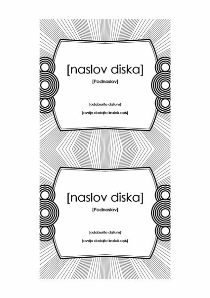 Omot za CD (kompatibilan s papirom Avery 5693)