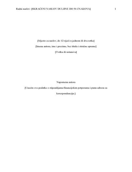 Seminarski rad u stilu APA (6. izdanje)