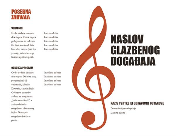 Glazbeni program