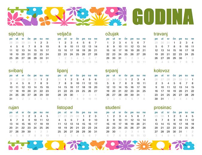 Razigran kalendar za svaku godinu