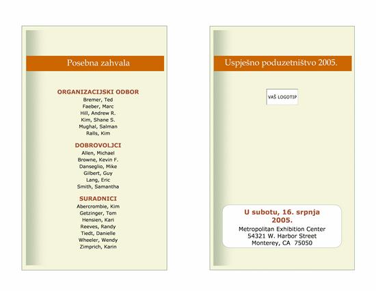 Raspored poslovnih događaja