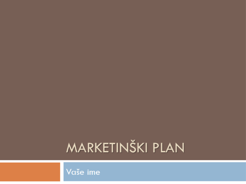 Marketinški plan
