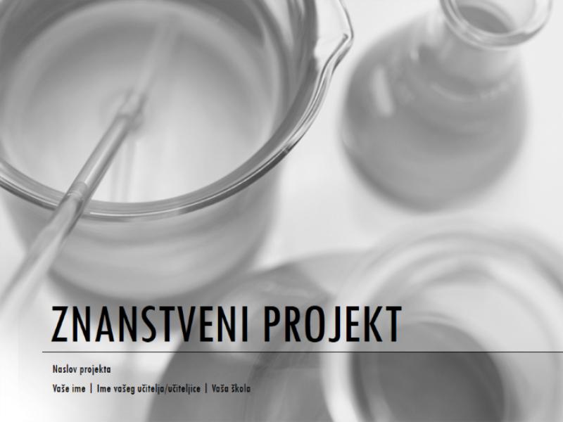 Prezentacija znanstvenog projekta