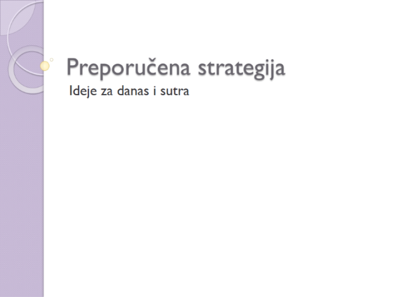 Prezentacija za preporuku strategije