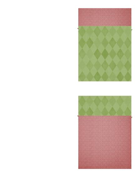 Blagdanska zahvalnica (motiv božićne zvijezde, četverodijelna)