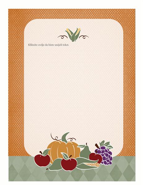 Tiskanica (s motivom jesenskih plodova)