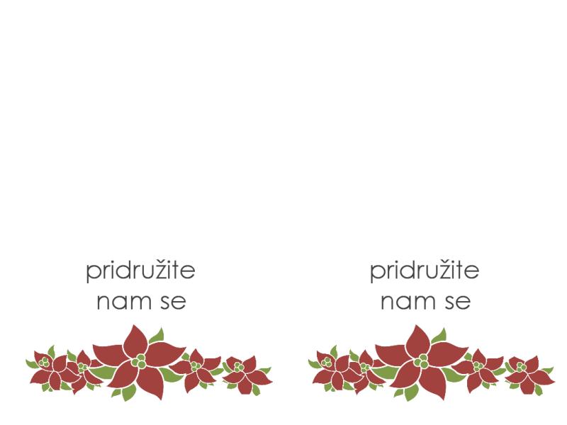 Pozivnica na zabavu (s dizajnom božićnog ukrasnog drvca)