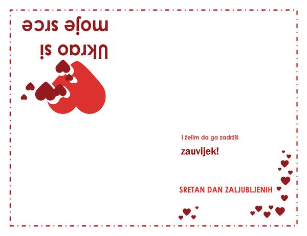 Čestitka za Valentinovo (dizajn sa srcem)