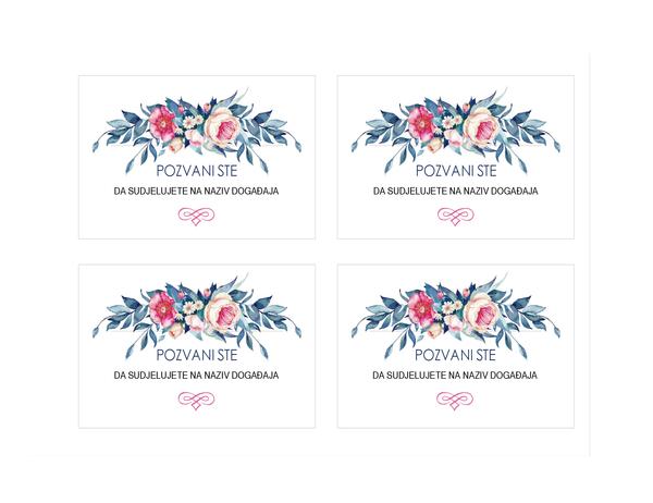 Pozivnica na zabavu (cvjetni dizajn)