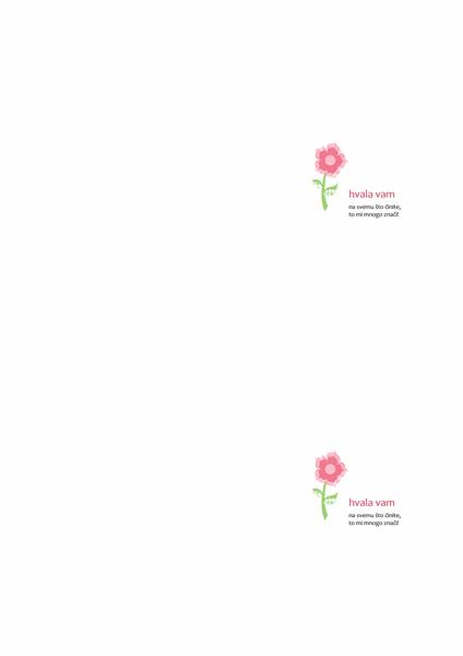 Zahvalnica (s cvjetnim motivom)