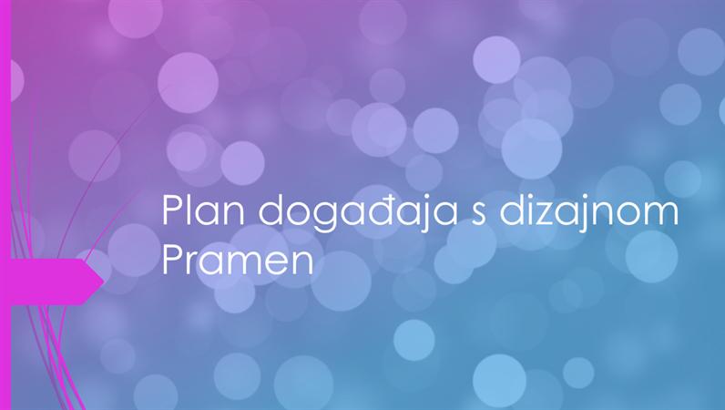 Plan događaja s dizajnom Pramen