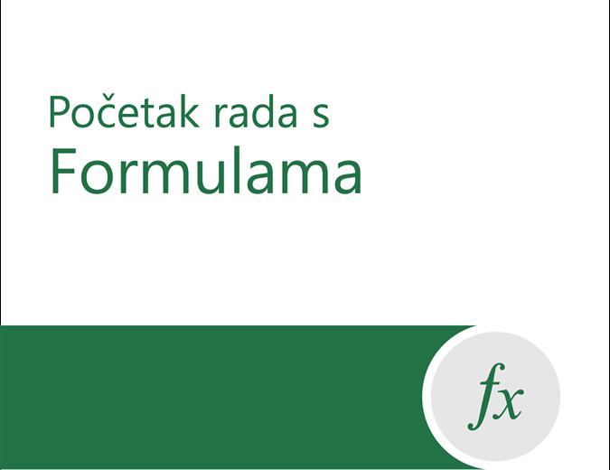 Vodič za formule