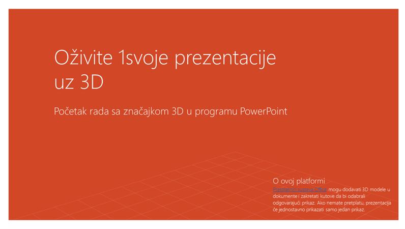 Oživite svoje prezentacije uz 3D