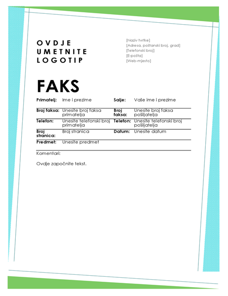 Naslovnica geometrijskog faksa