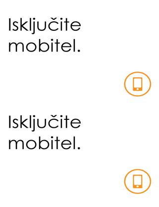 Podsjetnik na zabranu korištenja mobilnih telefona