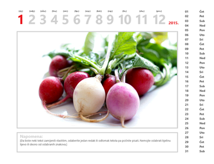 Kalendar s fotografijama za 2015.