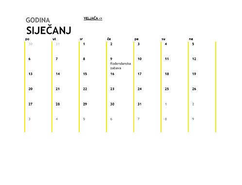 12-mjesečni kalendar