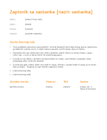 Bilješke sa sastanka (narančasti dizajn)