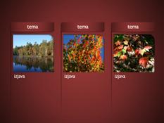 SmartArt grafika sa slikama na crvenoj pozadini