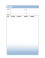 Naslovnica faksa (tema sa stupnjevitom plavom bojom)