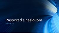 Poslovna prezentacija s digitalnim plavim tunelom (široki zaslon)