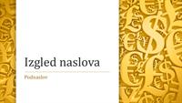 Prezentacija sa simbolima valuta (široki zaslon)