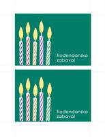 Razglednica s pozivnicom na rođendan