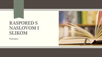 Akademska prezentacija s prugastim uzorkom i vrpcom (široki zaslon)