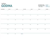 Kalendar za jedan mjesec s bilješkama za bilo koju godinu