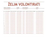 List za registraciju volontera
