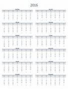 Kalendar za jednu godinu